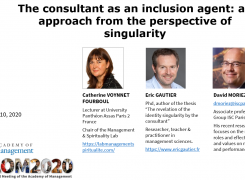 The consultant as an inclusion agent: an approach from the perspective of singularity